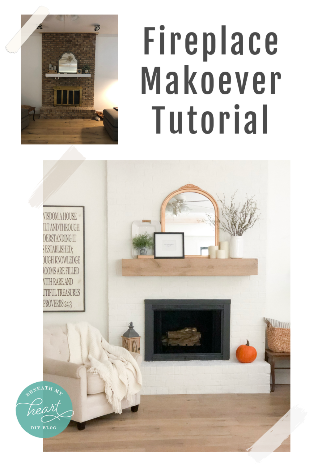 Our Fireplace Makeover Reveal Mirror Makeover Diy Mirror