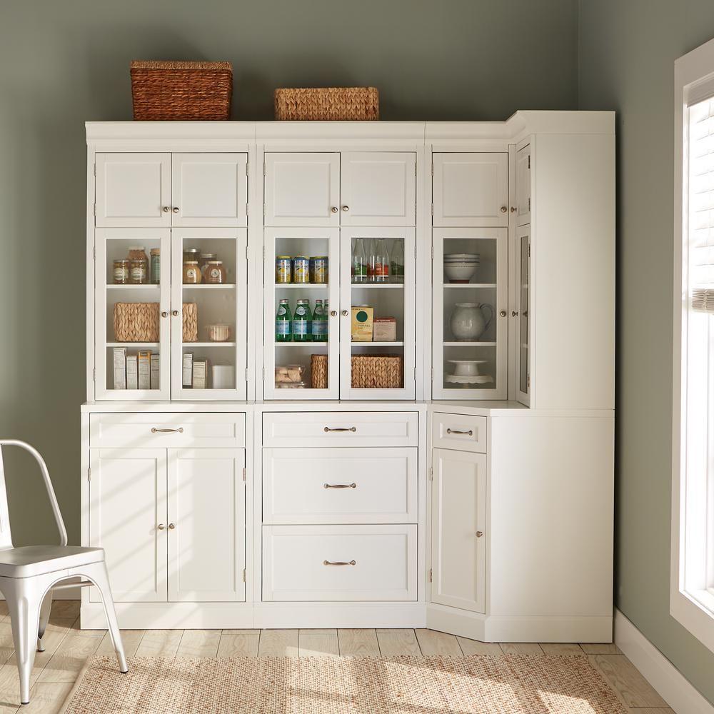 Home Decorators Collection Royce True White Modular Corner Cabinet