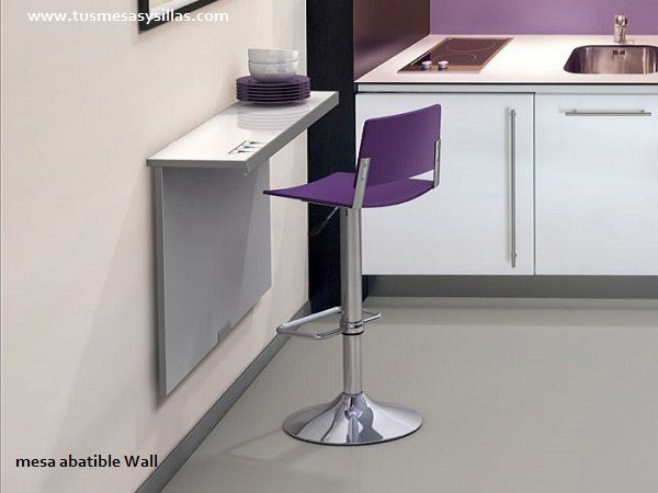 mesa mostrador para cocinas pequeñas o alargadas para altura de mesa ...