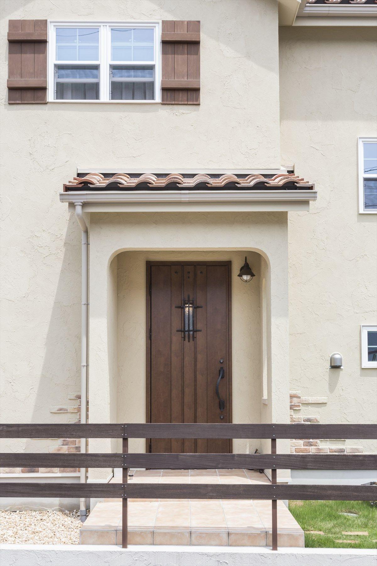 玄関ドア ドア 木目ドア 扉 ナチュラル 注文住宅 施工例 ジャストの家
