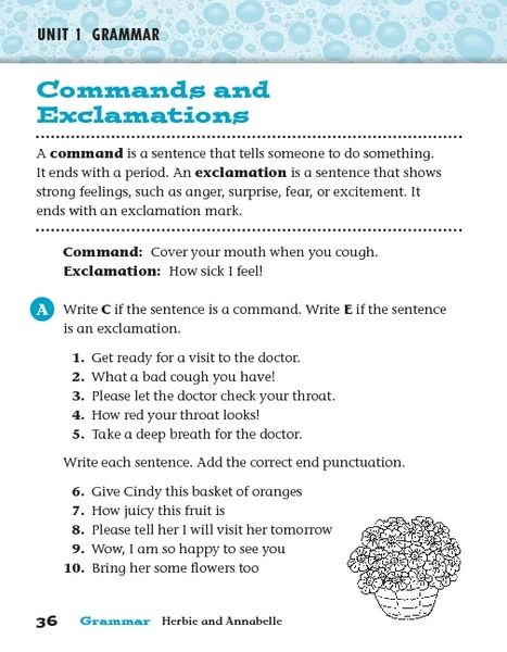 Commands And Explanations Worksheet For 2nd 3rd Grade Lugares