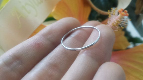 Engraved Thin 1mm 950 Platinum Wedding Ring Er By Aiylamaison