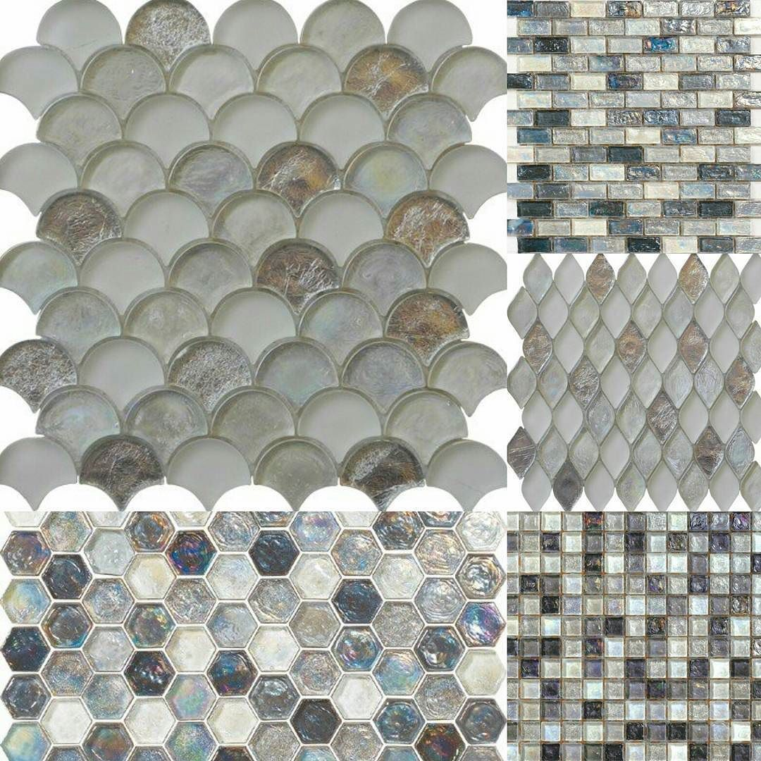 Tiles And Decor Gray Silver #style Today #mosaico #mosaic #tiles #glass