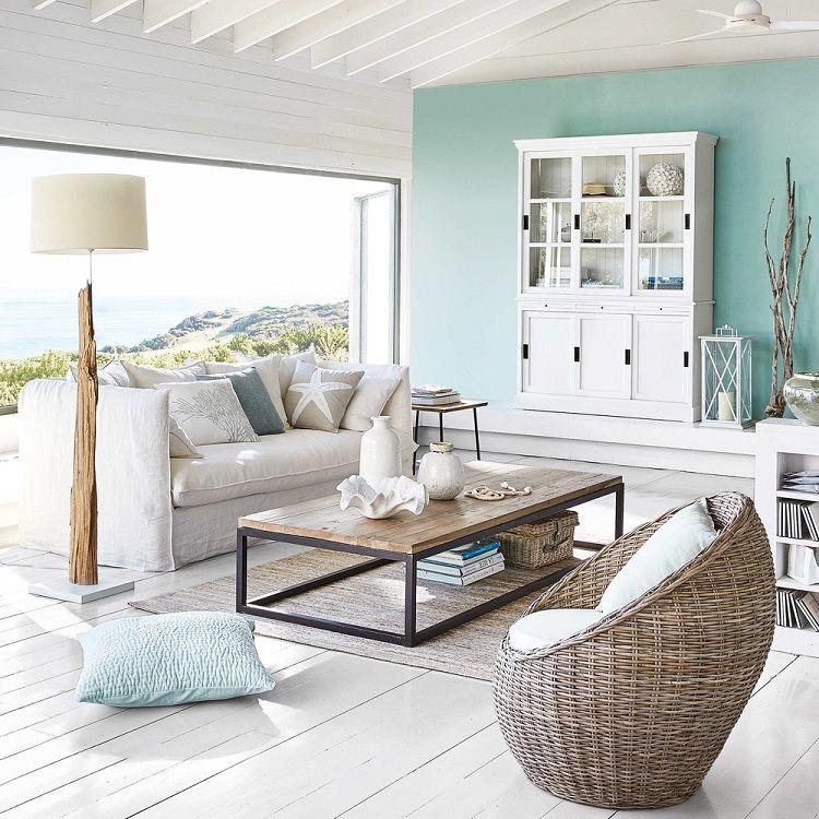 Canapé 3 4 places en lin lavé blanc Louvre - faire extension maison pas chere