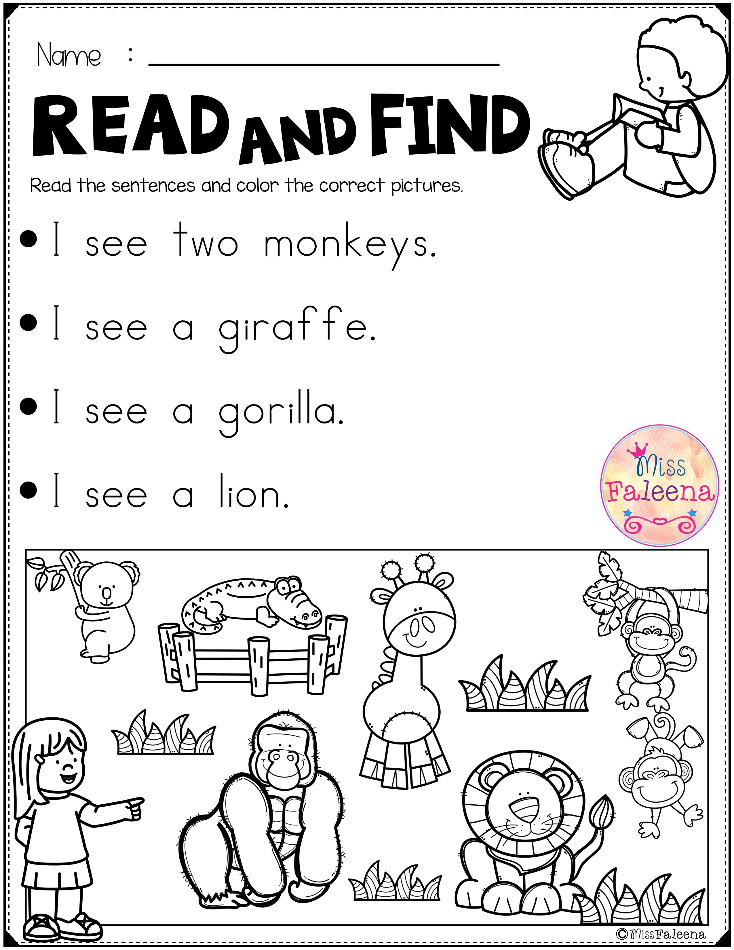 Free Reading Activities For Beginning Readers