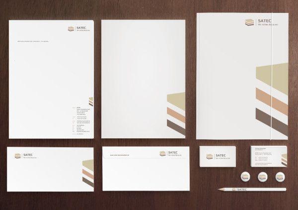 Satec Büromöbel Corporate Design Briefpapier Corporate