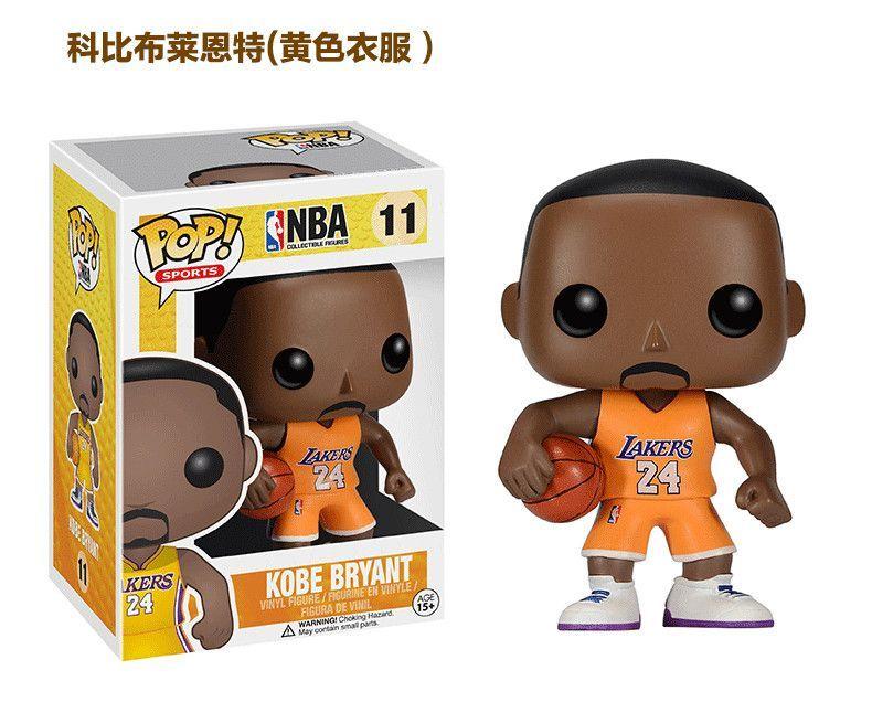 10cm Funko POP Kobe Bryant LeBron James Stephen Curry NBA Figure 2k - fresh nba coloring pages of lebron james
