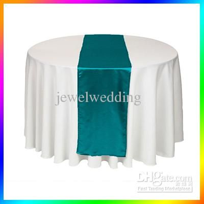 Whole 5 Piece Teal Blue Satin Table Runner Wedding Cloth Runners Holiday Favor Party Banquet Decoration Free Shipping 2 61 Dhgate