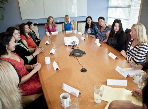 Roundtable of tech execs who are moms meet in San Francisco on Aug. 8, 2012. #Moms #Mom_Entrepreneur