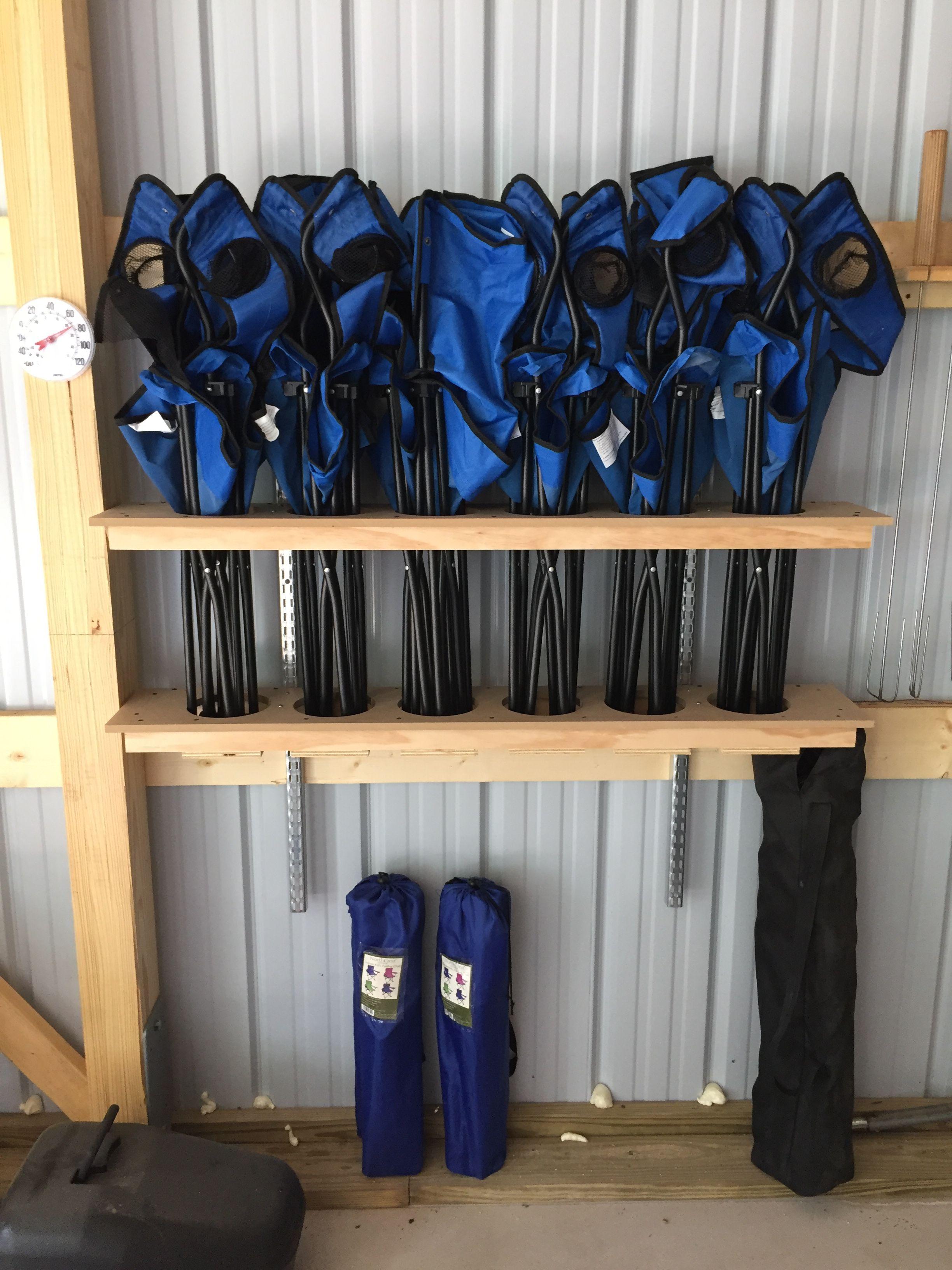 Folding Chair Rack Diy Vanity Stool Storage  Pinteres