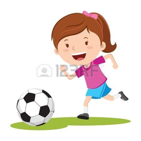 Resultado De Imagen Para Dibujos De Una Nina Jugando Futbol Nino Jugando Futbol Ninos Jugando Jugar Futbol