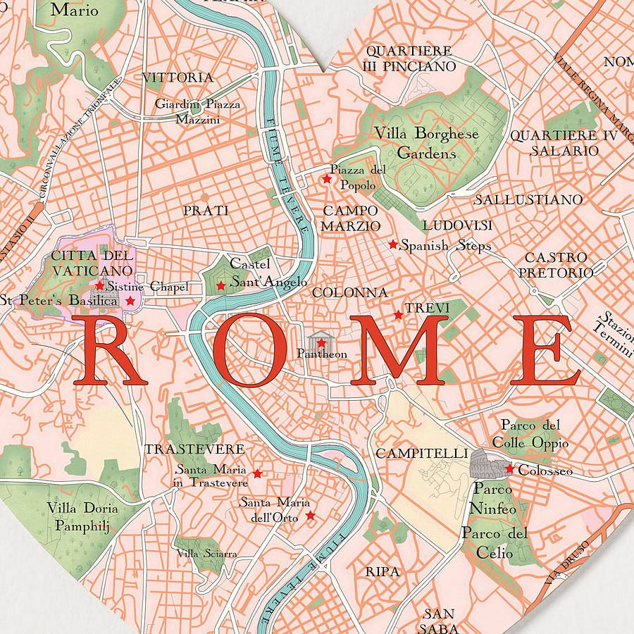 map of tourist attractions in rome italy Google Search Italy