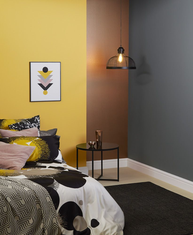 Bedroom Paint: I Like The Combo Of Crown's Metallic Copper Paint With