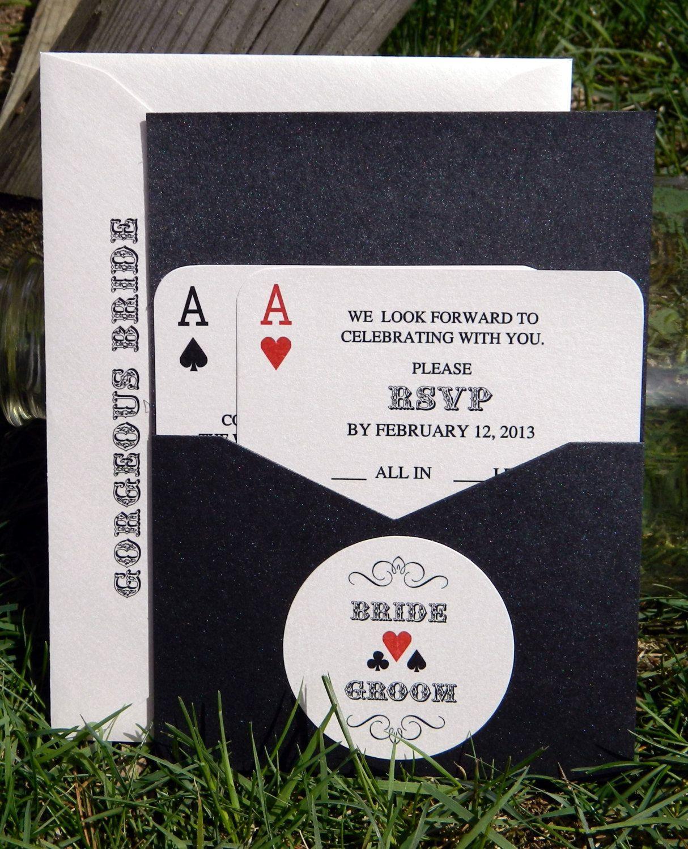 Panel Pocket - CLASSIC VEGAS - Vegas or poker Themed Wedding ...
