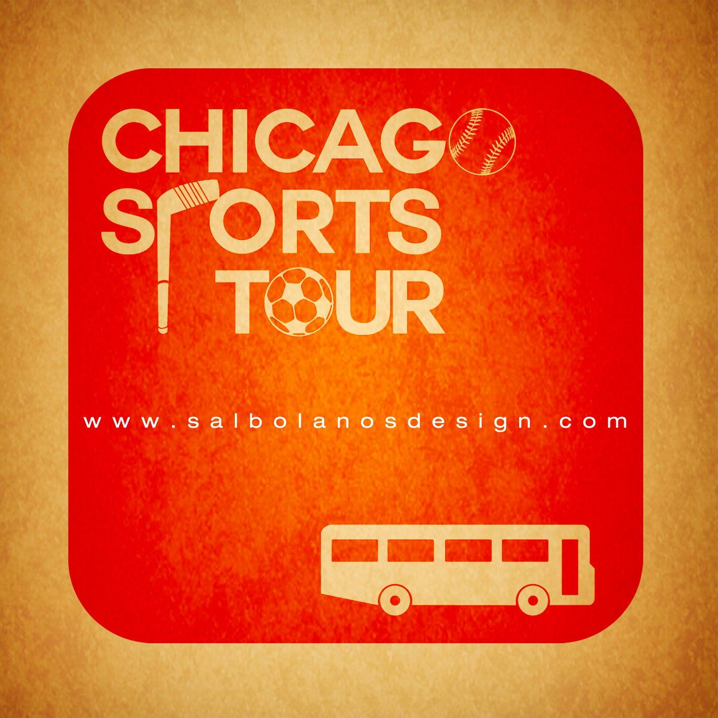 Chicago Sports Tour Logo Design Sports logo design