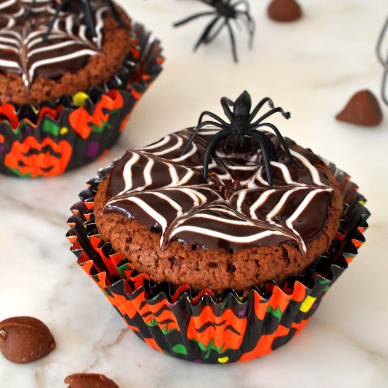 Cooking with Manuela: Homemade Halloween Brownie Cupcakes Recipe