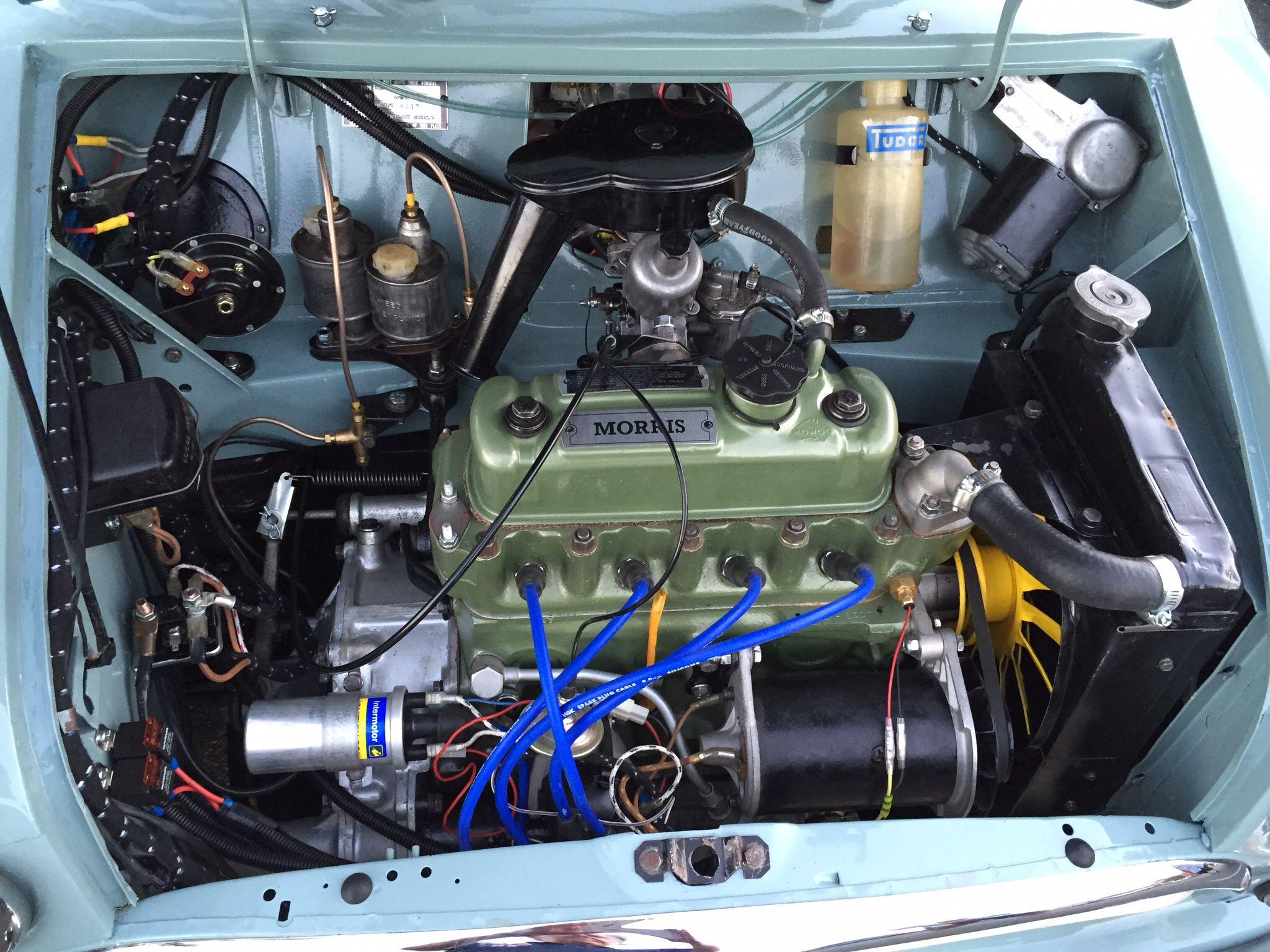 engine bay  morris mini  classic mini engineering classic
