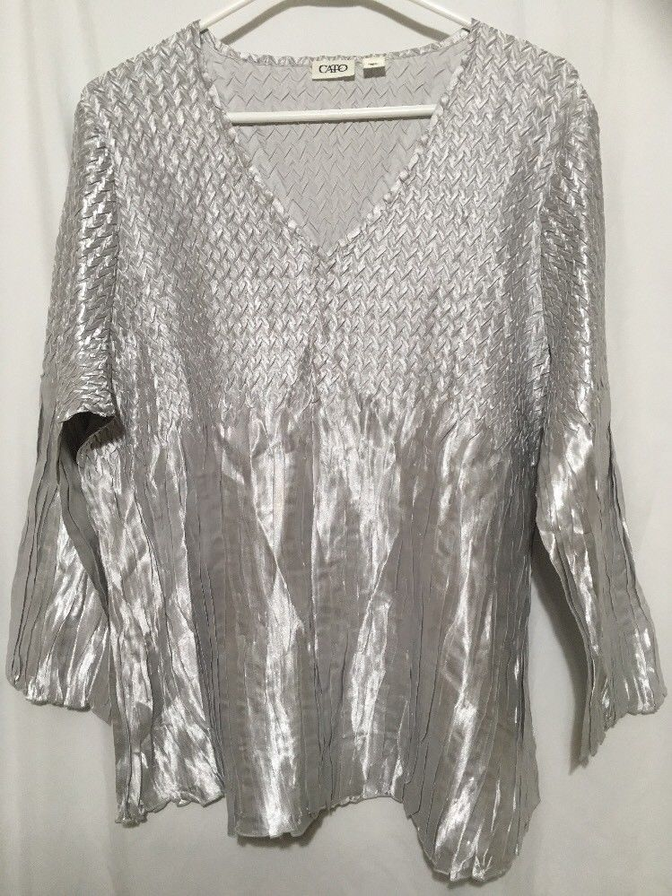 56875f9443c5 Womens XL Blouse Top Silver Color Cato Brand  Cato  Blouse. Find this Pin and  more ...