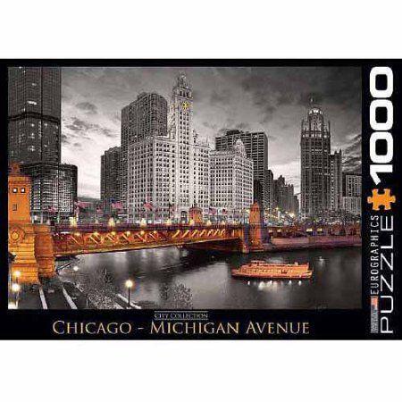EuroGraphics Chicago Michigan Avenue 1000-Piece Puzzle, Multicolor