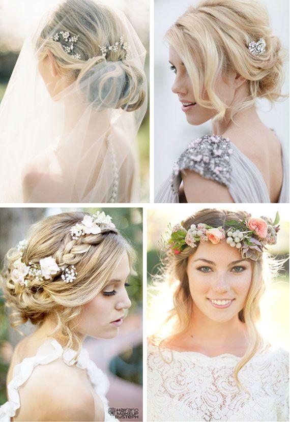 Cheveux ornés de bijoux ou encore de fleurs pour un look très bohème chic !