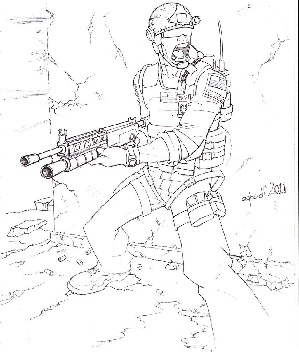 call of duty drawings - Bing images | Coloring pages ...