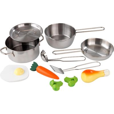 Our Kidkraft Metal Accessories Set Makes A Great Addition To Kids Play Kitchens The Consists Of Pans Pot