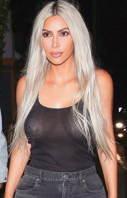Pinterest Deborahpraha Kim Kardashian Platinum Silver Hair Color Kim Kardashian Blonde Kim Kardashian Hair Hair Styles
