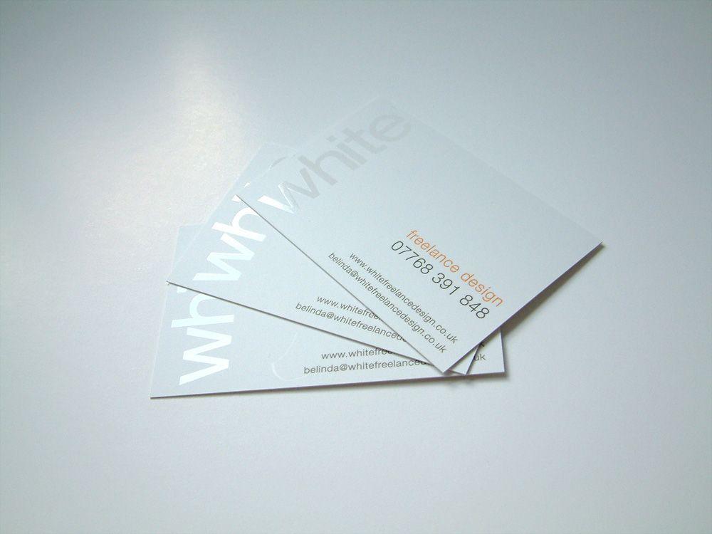 White spot uv on matte white paper pinterest for Business cards spot uv