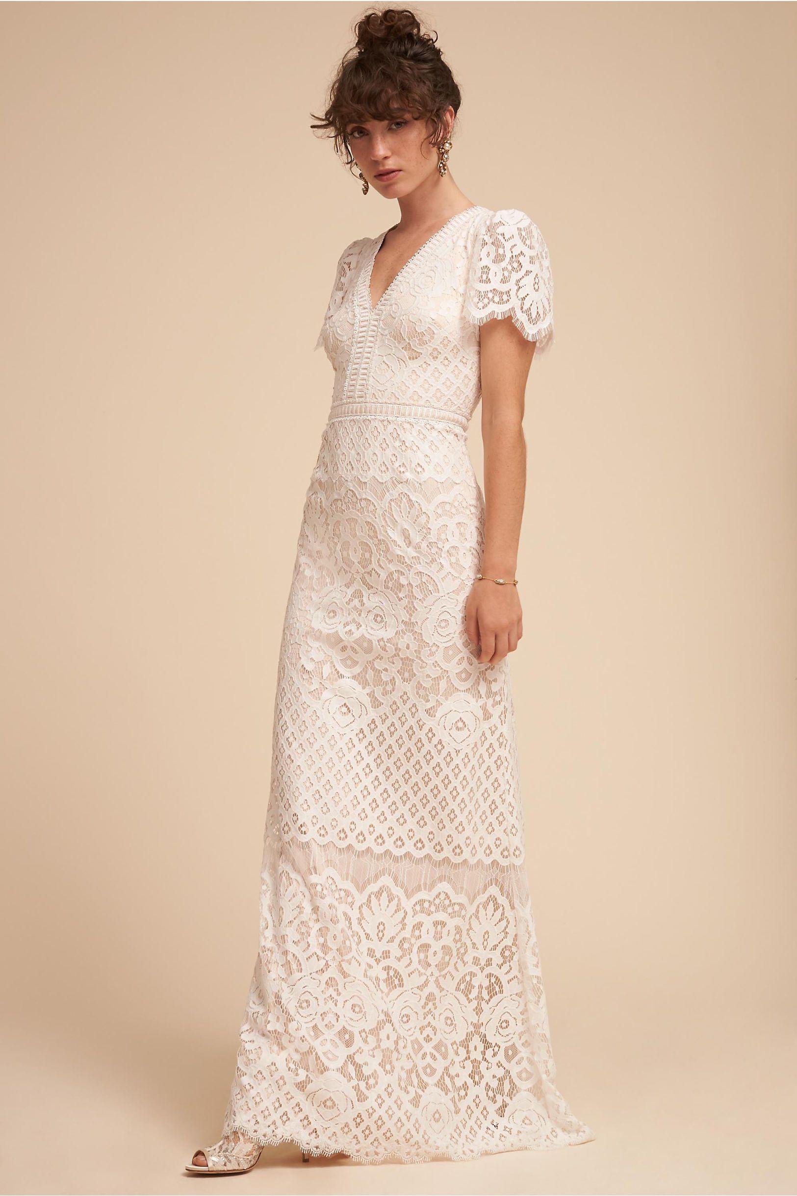 BHLDN\'s Tadashi Shoji Minuet Gown in Ivory/natural | Pinterest