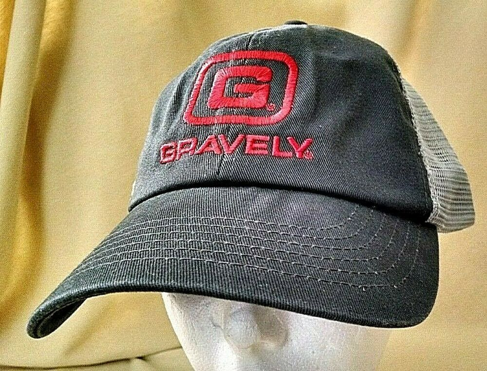 GRAVELY HAT GRAY BASEBALL BALL RED LOGO CONTINENTAL CAP