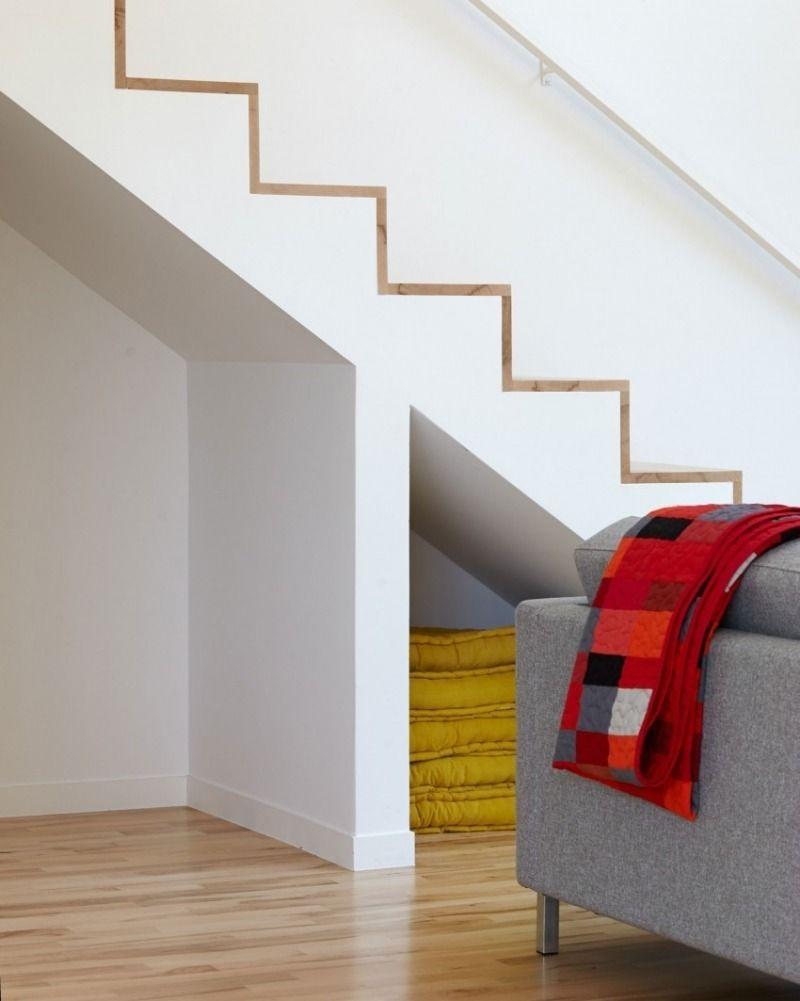 offene treppe mit stauraum darunter | inspiration | pinterest - Weise Wandfarbe Moderne Architektur