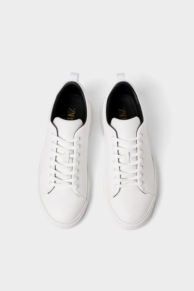 Solid Color Sneakers Zara Light In 2020 Zara Sneakers Sneakers Zara