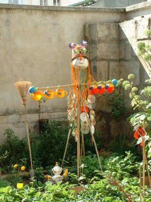 Pour utiliser des cd recyclage pinterest for Jardinage decoration jardin
