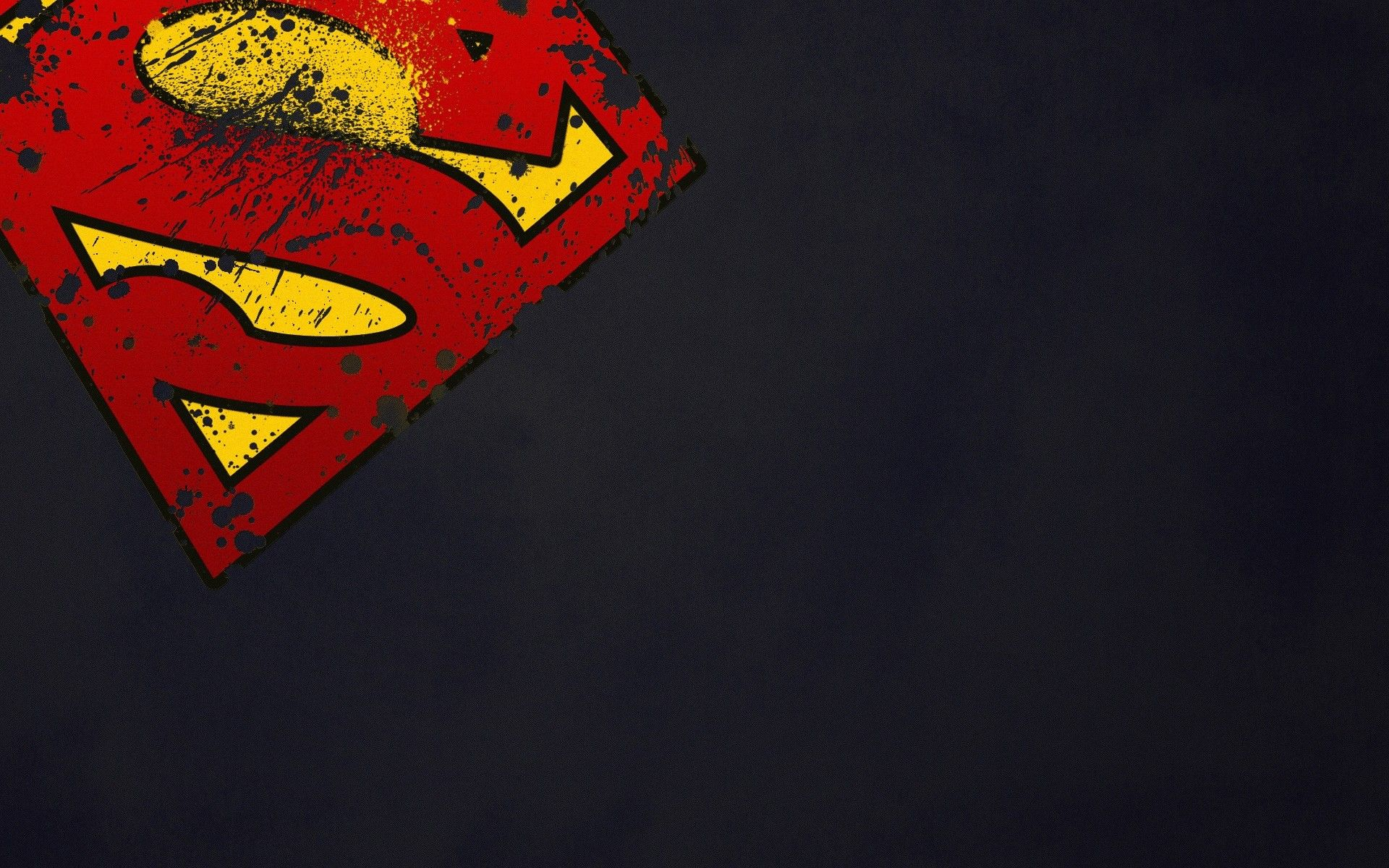 Superman's stained sign. Movie Wallpapers. HD Wallpaper