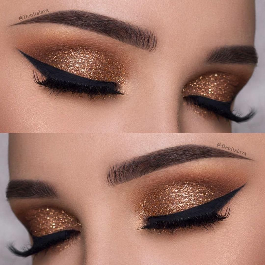 Pretty Copper Cut Crease Eye Makeup By Denitslava