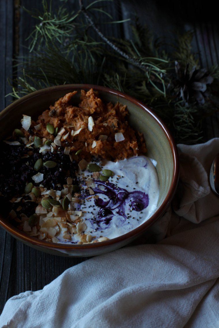 Black Rice and Sweet Potato Breakfast Bowl