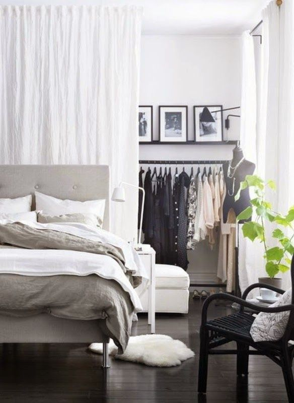 Room Divider Curtains: Disconnect The Makeshift Dressing
