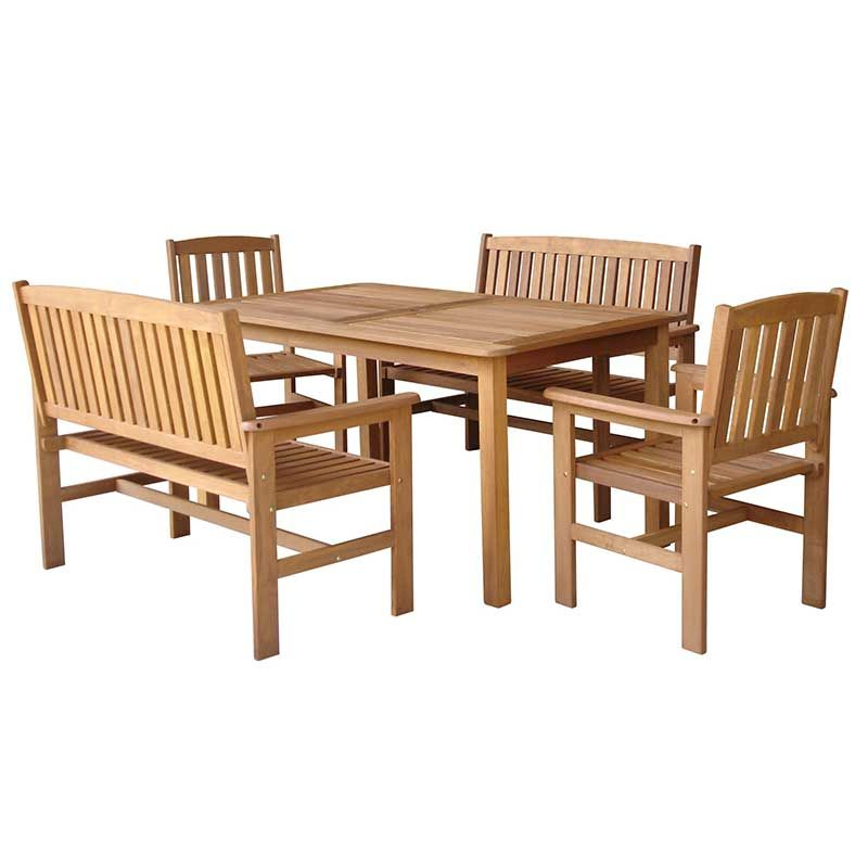 Greenfingers Loreto 6 Seater Dining Set - 150cm Table on ...