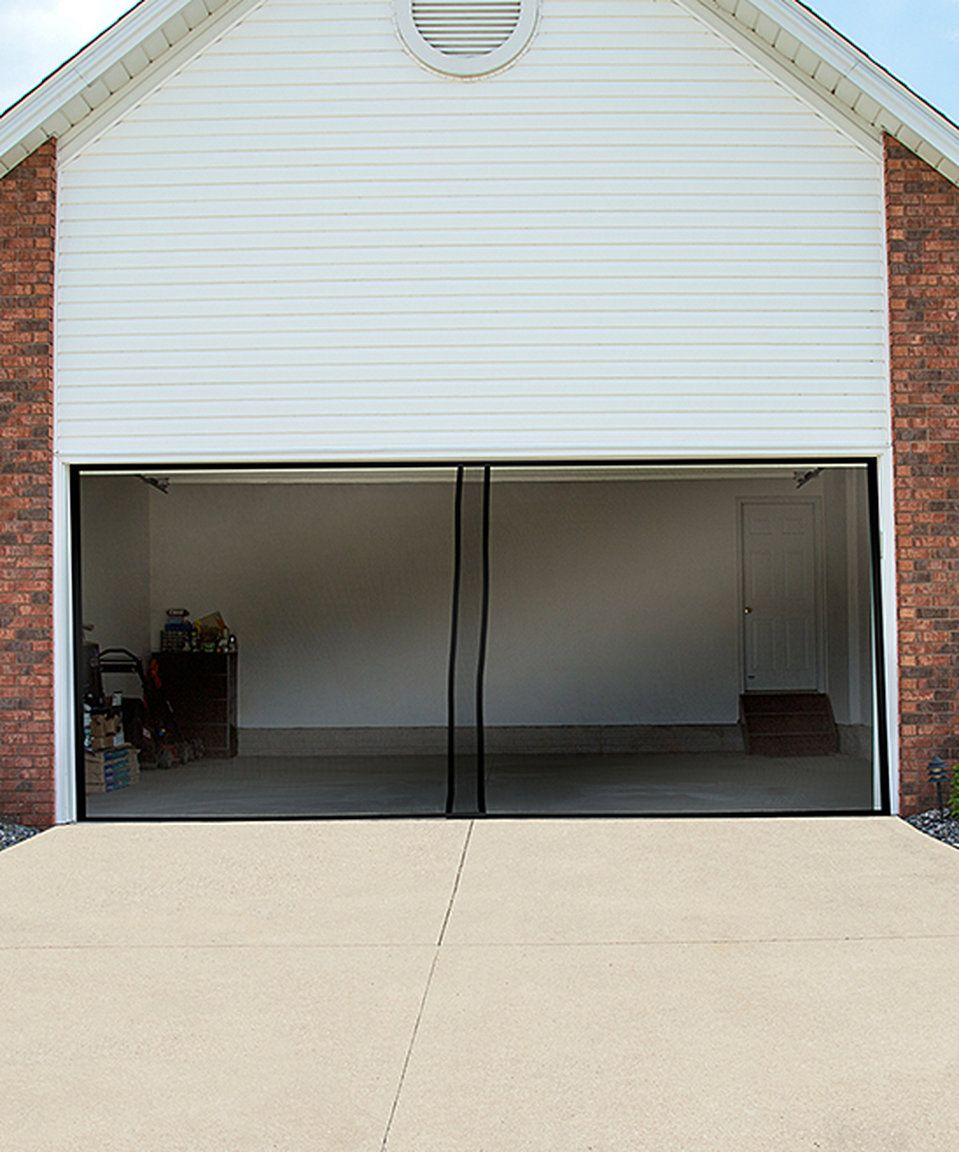 Love This Black Two Car Garage Door Screen By Trademark Global On Zulily Zulilyfinds Garage Screen Door Garage Door Design Garage Doors