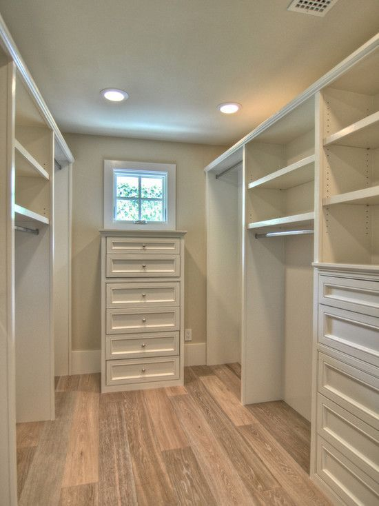 Master Bedroom Closets Design Pretty Much Exactly What I Want Only My Vanity Would Be At The End With A Master Closet Design Closet Layout Closet Designs
