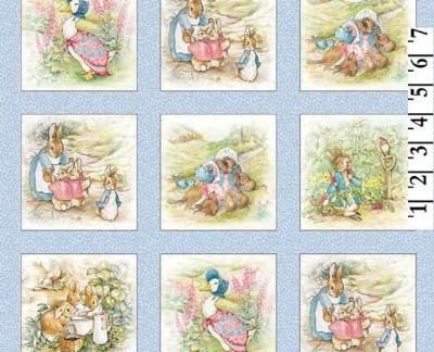 cotton Rare Vintage Peter Rabbit Fabric