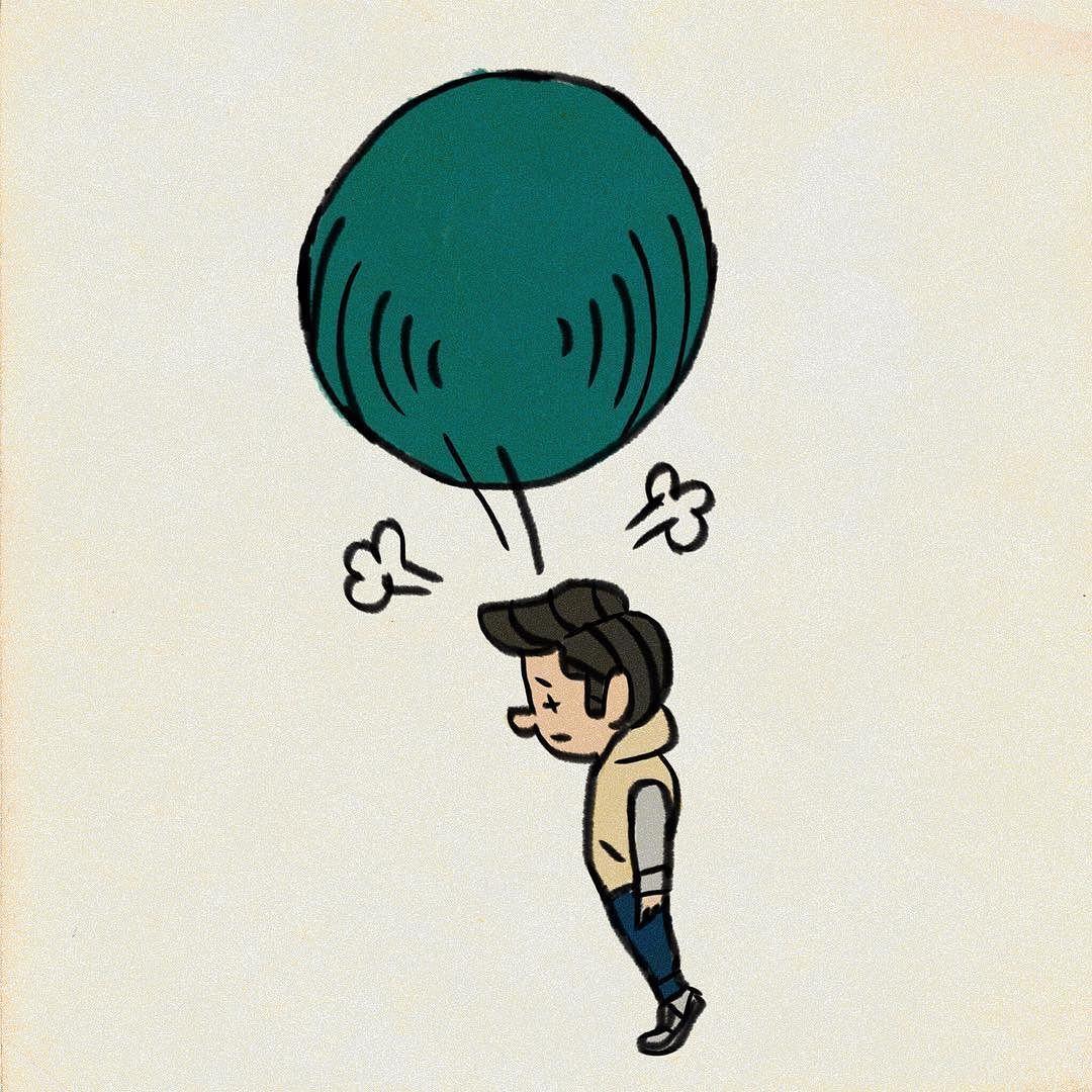 バランスボールで遊ぶ イラスト My Illustration Illustration