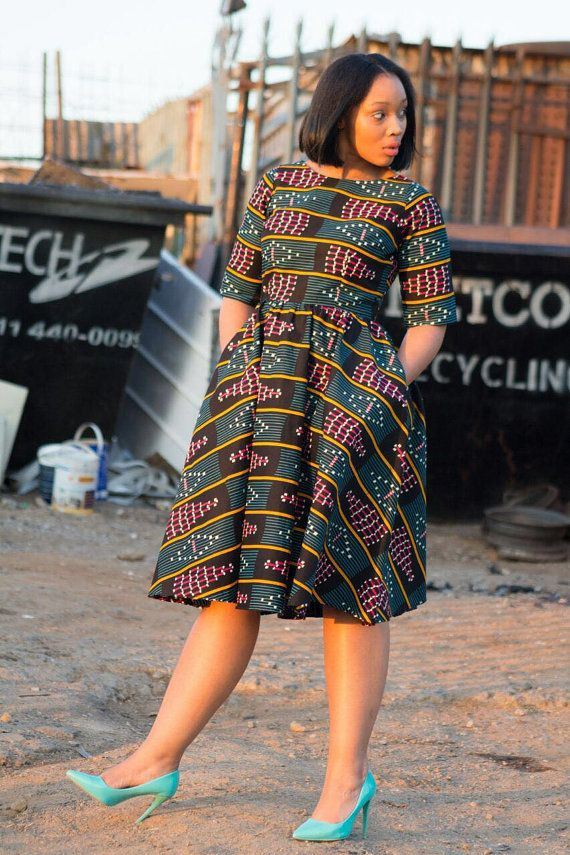 African Print Dress Ankara Print African Clothing African Fashion Pinterest African Print