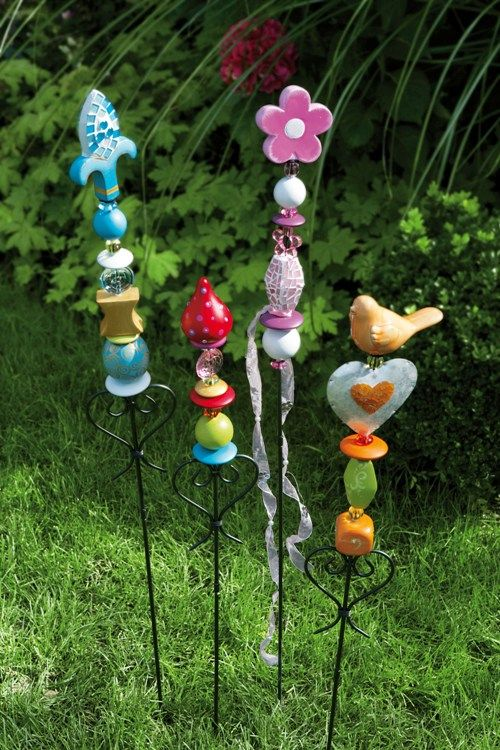 Gartenstecker kreativ haus garten deko pinterest gartenstecker welt und kreativ - Gartenstecker basteln ...