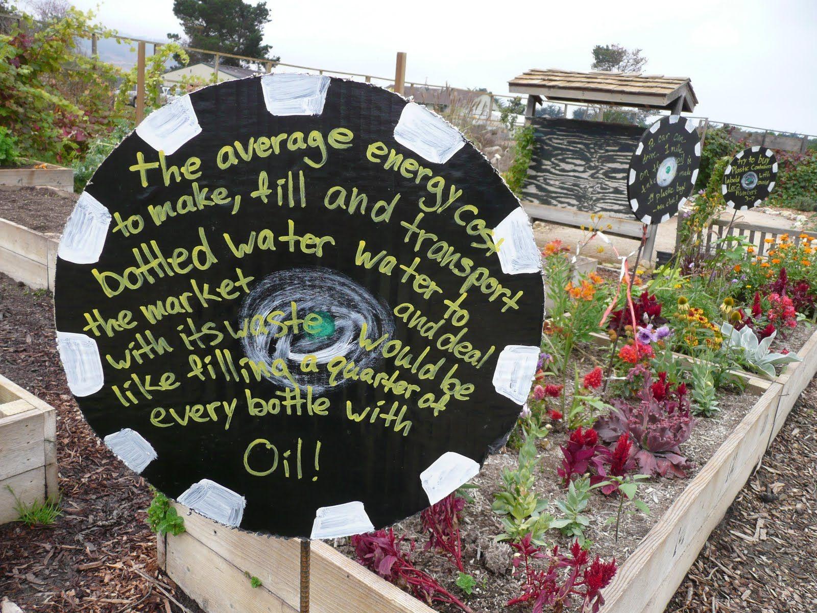 Educational message | School Garden Signs | Pinterest | Garden ...