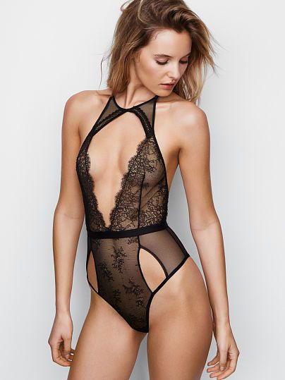 22e13499ada Cutout Chantilly Lace Plunge Teddy