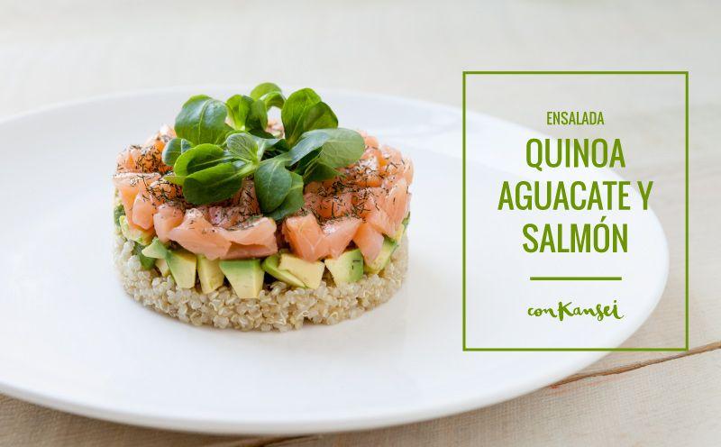 Ensalada de quinoa con aguacate y salm n food pinterest tes quinoa and - Ensalada con salmon y aguacate ...