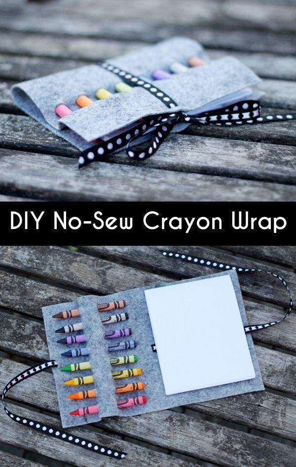Diy No Sew Crayon Wrap Diy For Kids Mops Crafts Crafts For Kids