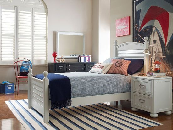 Young America The Harbor Town Topsail Twin Bed And Harbor