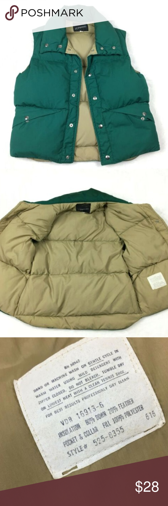 Vintage Down Filled JC Penney Puffer Vest